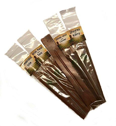 Sensari Irish Incense Sticks Assortment & ASH Catcher Gift Set - 96 Sticks, 4 Country SCENTS of Ireland - - Quality Incense