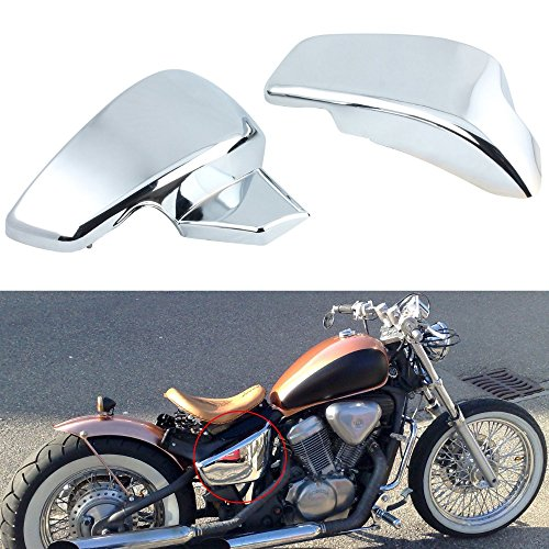 Pair Motorcycle Battery Side Fairing Cover fit for Honda Shadow VLX Deluxe VT600C VLX 600 STEED400 1999-2007 Honda VT 600 C CD 1999-2008 Honda VLX 600 (Fairing Motorcycle Cover)