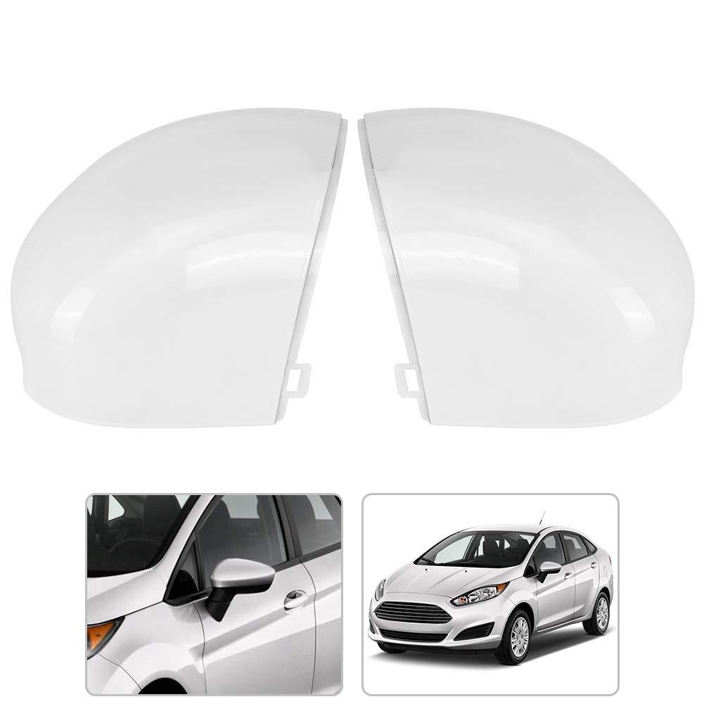 2 pezzi di copertura dellalloggiamento dello specchio ad ala di inversione laterale innescato bianco Alloggiamento dello specchio laterale