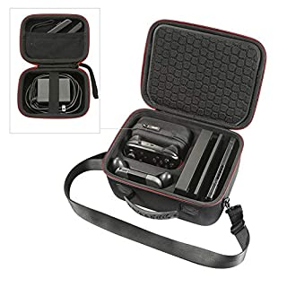 RLSOCO Carrying Case for Nintendo Switch Console & Accessories-Fit Extra Switch Pro Controller & Poke Ball Plus