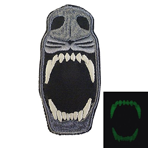 LEGEEON Glow Dark GITD K9 Dog Teeth Fear The Night Morale Tactical Embroidered Touch Fastener Patch