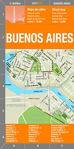 Laminated Buenos Aires City Map (Bilingual) by deDios (Spanish and English Edition) ()