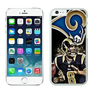 St Louis Rams Sam Bradford Case For iPhone 6 Plus White 5.5 inches