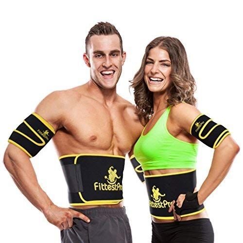 Fittest Pro Waist Trimmer Slimming Flex Sauna Belt - Belly, Fat Loss, Weight Loss Belt - Ab Trainer, Back Brace & Abdominal Support (Small : 8
