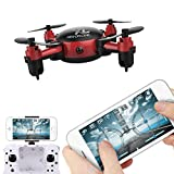 Leegor YL S18 Foldable Camera Drone RC Mini Pocket Wifi Quadcopter 2.4 4CH 6-Axis Gyro 3D UFO FPV (Red)