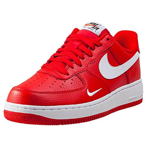 d2890ab9e46c Galleon - Nike Men s Air Force 1 Basketball Shoe University Red White-White- Black 12