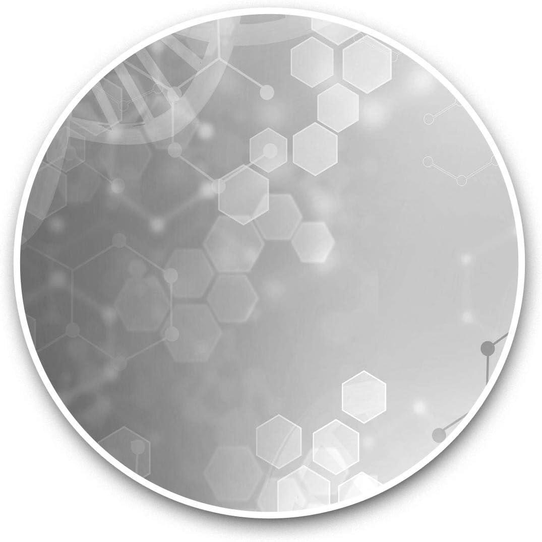Vinyl Stickers (Set of 2) 15cm Black & White - DNA Molecule Biology Science Laptop Luggage Tablet #39045