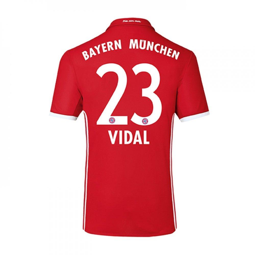 2016-17 Bayern Home Football Soccer T-Shirt Trikot (Arturo Vidal 23) - Kids