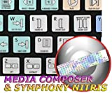 AVID MEDIA COMPOSER & SYMPHONY NITRIS GALAXY SERIES NEW KEYBOARD STICKERS SHORTCUTS ARE COMPATIBLE WITH APPLE