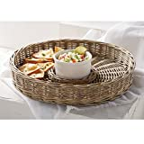 Mud Pie Willow Chip N Dip Set, Gray