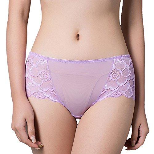 POWEE Damen Sexy Spitze Slips Panties Hipster Unterwäsche Unterhosen, 6er Pack