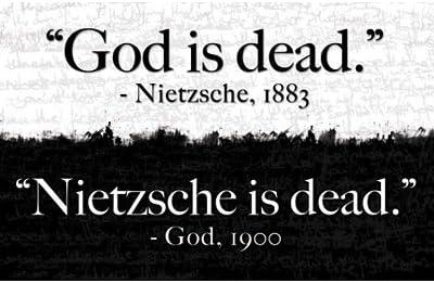 24 x 36) Dieu est Mort Nietzsche est Mort Affiche d'art d'impression:  Amazon.fr: Cuisine & Maison