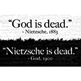 (24x36) God is Dead Nietzsche is Dead Art Poster Print