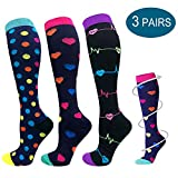 Compression Socks for Men & Women - 3/6 Pairs - Best for Running,Medical,Sports,Flight Travel, Pregnancy - 20-30mmHg (Multicoloured, S/M)