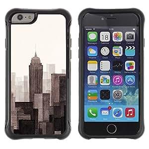 Suave TPU GEL Carcasa Funda Silicona Blando Estuche Caso de protección (para) Apple Iphone 6 / CECELL Phone case / / Monotone Gray Beige Art Painted /