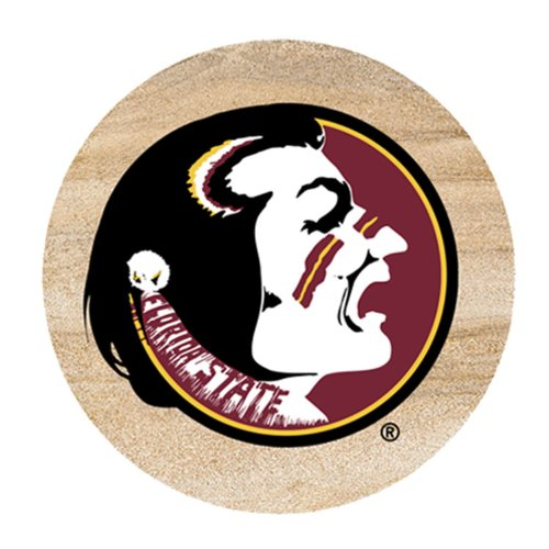 Thirstystone Florida State University Dots Car Cup Holder Coaster, 2-Pack