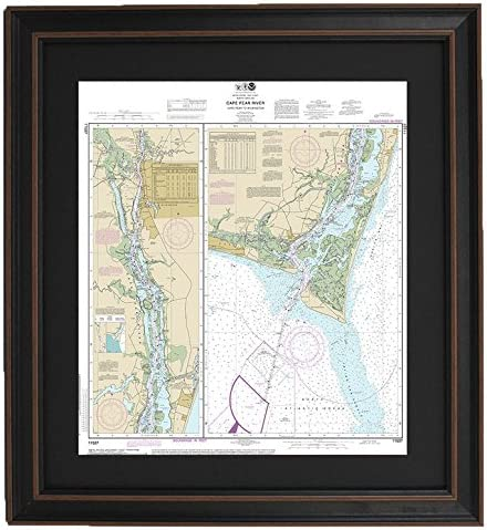 Amazon Com Patriot Gear Company Framed Nautical Chart 11537 Cape Fear River To Wilmington Standard Size Posters Prints