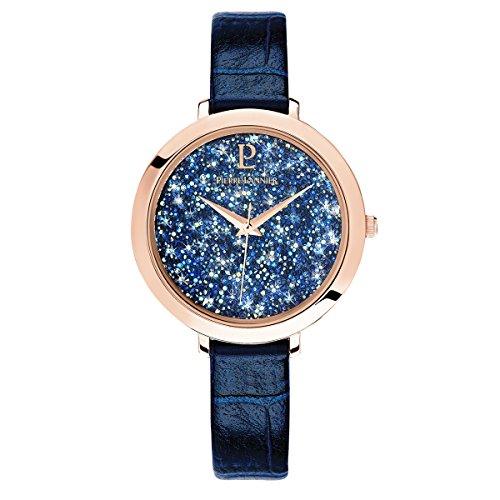 Pierre Lannier Elegance Swarovski Crystal Blue Ladies Watch