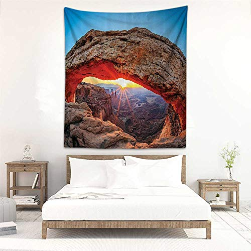 (Godves Tapestry Wall Hanging Room Decorations Famous Sunrise at Mesa Arch in Canyonlands National Park Wall Hanging Carpet Throw 40