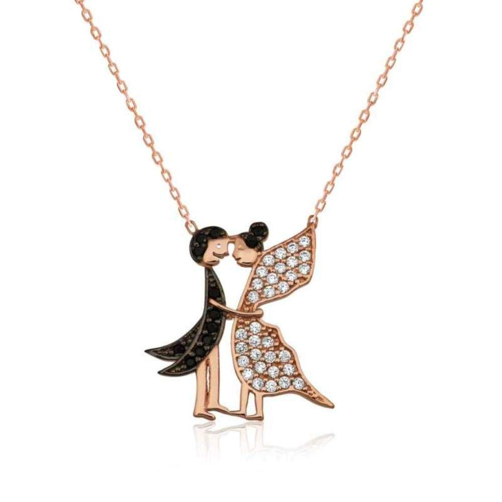 Birthday Girlfriend Gift KOKANA Color Stone in Love Butterfly Necklaces for Women and Girls
