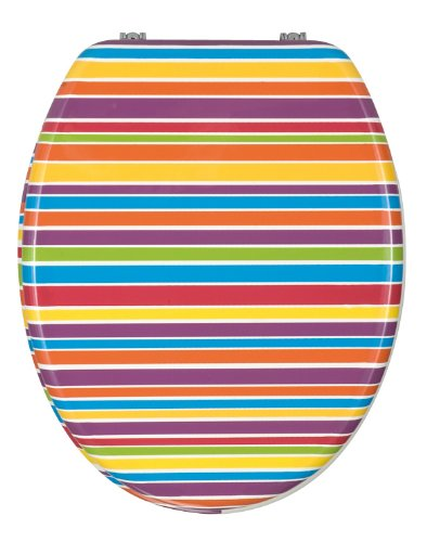Peachy Wenko 340357100 Bonbon Stripes Toilet Seat Fix Clip Short Links Chair Design For Home Short Linksinfo