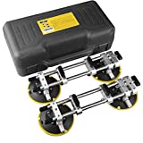 IMT 2 Pack Seamless Seam Setter with 6-Inch Vacuum Suction Cups for Seam Joining and Leveling Professional Countertop Installation Tool for Granite Stone Marble Slab Free Storage Case and Gloves