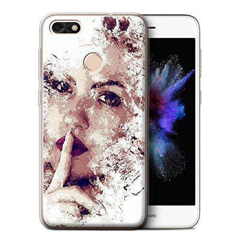 STUFF4 Gel TPU Phone Case / Cover for Huawei P9 Lite Mini / Hush/Woman Design / Fragments ()