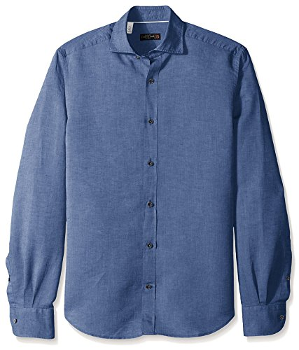 corneliani-mens-breezy-chambray-sport-shirt-charcoal-navy-46-eu-185
