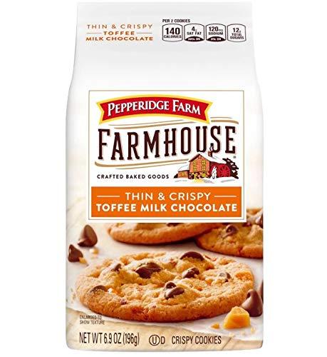 (Pepperidge Farm New! Farmhouse Thin & Crispy Toffee Milk Chocolate Cookies 6.9oz (U)D)
