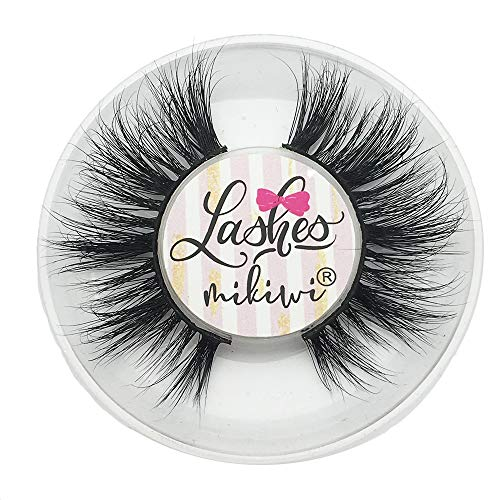 Mikiwi D389, Mink Lashes, 3D Mink Lashes, Volume Soft Lashes, Dramatic Long Eyelashes, Cruelty Free, Luxury ()
