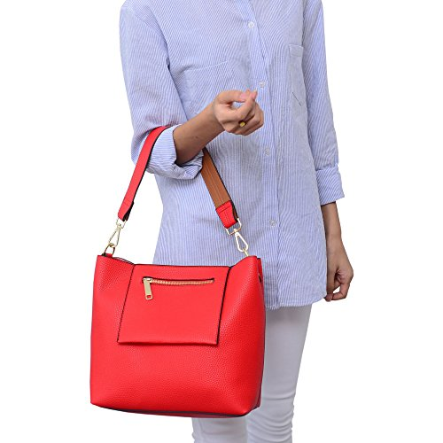 Red Woman Bag Crossed Leather Another Dissa B4qEwzc