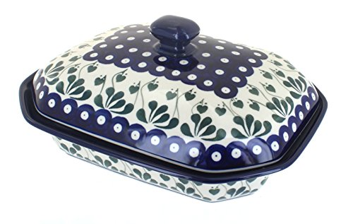 - Polish Pottery Alyce Medium Covered Baking Dish