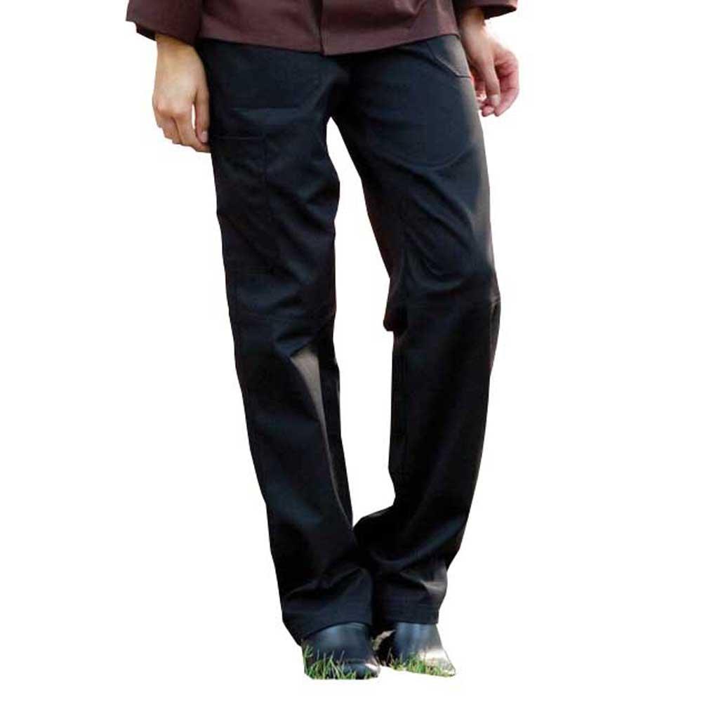 ChefsCloset Black Multi Pocket Chef Pant (Size: M)