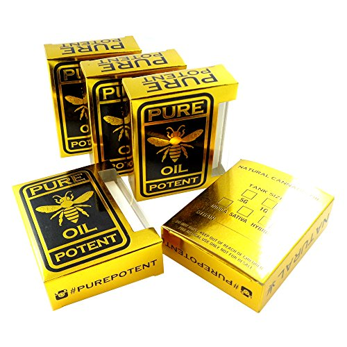 Potent Concentrate - 250 Solid Gold Pure Potent Empty Display Concentrate Packaging Boxes VB-005