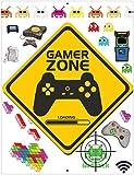 Import Wholesales Gamer Zone Video Game Aluminum Sign Indoor Outdoor Decorative Gaming Plaque 12' x 9'