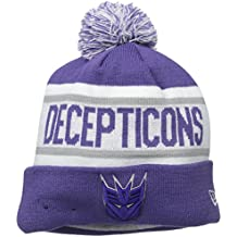 New Era Cap Men's Decepticons Biggest Fan Redux Pom Knit Beanie