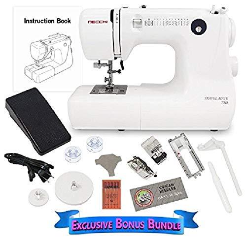 Necchi TM8 ¾ Size 12 LB Sewing Machine with Exclusive Bonus Bundle