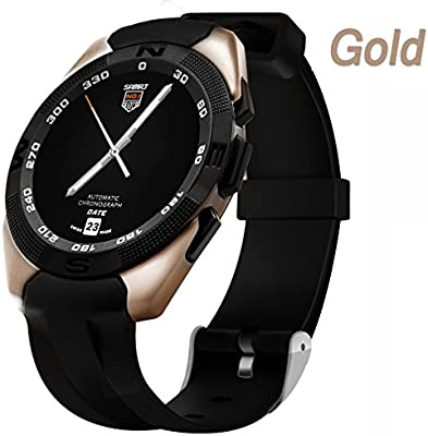 Gold Los Relojes De Pulsera For Women , Shengyaohul Smart Health Watch Mostrar Reloj / Bluetooth Reproductor De Música / Movimiento Paso A Paso Relojes ...