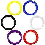 AFUNTA 6PCS 1.75MM 20M / 50G / PCS ABS 3D Print Filament For 3D Printer Pen - Red, purple, bule, black, white, Yellow colou