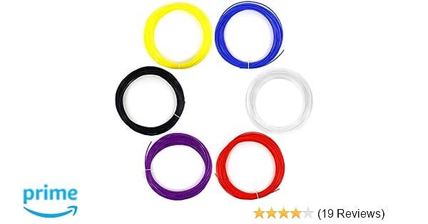 Multicolors 6 PCS 1.75MM 20M 50G ABS Print Filament For 3D Printer Pen Supplies