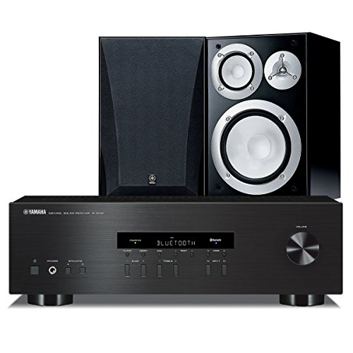 Yamaha NS-6490 Bookshelf Stereo Speakers with R-S202 Stereo Receiver