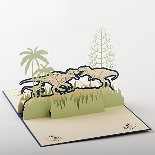 uniqueplus Dinosaures Jurassic Park vœux 3D pop up Cards cadeau pour anniversaire ou toute occasion Nepsource