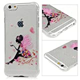 Iphone 6S / 6 Plus Case (5.5 Inch) - Badalink Clear with Cartoon Pattern Air Cushion TPU Bumper Painting Back Cover Slim Fit Anti-slip Protective Case for Iphone 6S / 6 Plus - Fairy of Butterfly