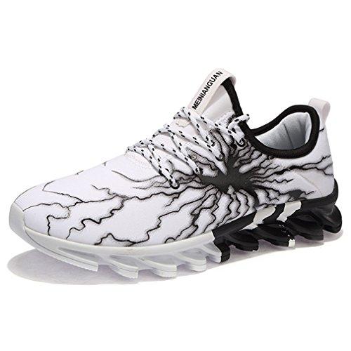 Schnürer Walkingschuhe Atmungsaktive Herren Solshine Laufschuhe Freizeit Sportschuhe Weiß Mesh Sneakers Gym xq84Y4pFn