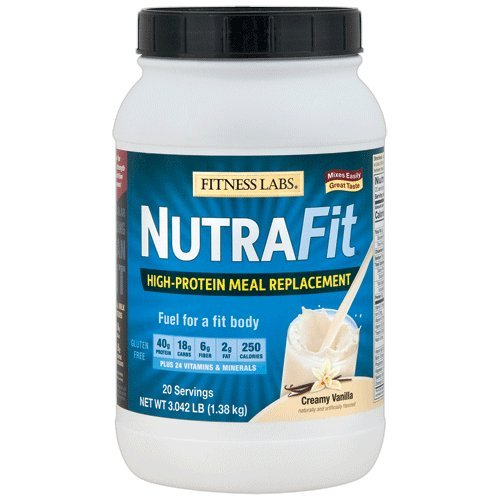 (Fitness Labs NutraFit High-Protein Meal Replacement (Creamy Vanilla, 3 Pounds))