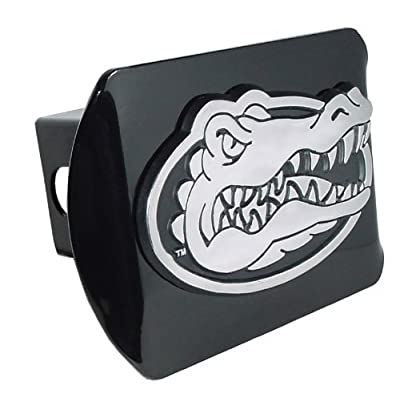 University of Florida Gator Head Emblem on Black Metal Hitch Cover: Sports & Outdoors