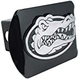 University of Florida Gator Head Emblem on Black Metal Hitch Cover