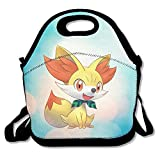 Best Picnic Plus Lunch Boxes - Bakeiy Poke Fennekin Lunch Tote Bag Lunch Box Review