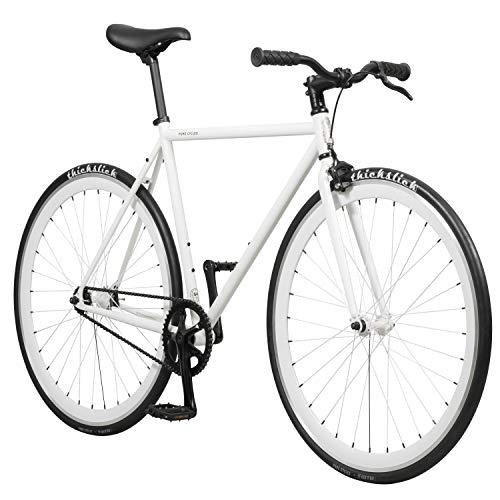 Premium Flip Flop Seat - Pure Fix Glow in the Dark Fixed Gear Single Speed Bicycle, Zulu Glow White, 54cm/Medium