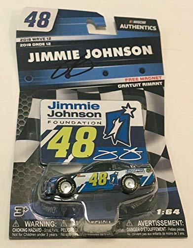 2018 Jimmie Johnson Foundation Signed 1/64 Nascar Monster Energy Diecast Car - Autographed Diecast Cars